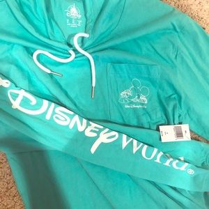 NWT Disney Hawaiian Polynesian Mickey Hoodie Small